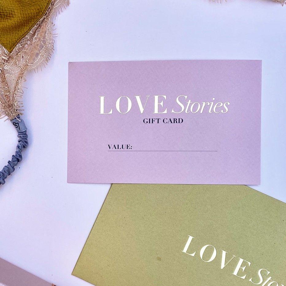 Tarjeta de regalo de Love Stories