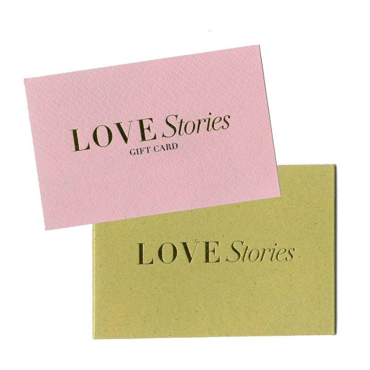 Love stories  Carte-cadeau Love Stories